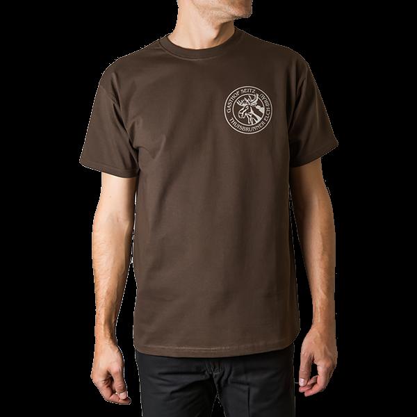 T-Shirt Elch-Logo braun