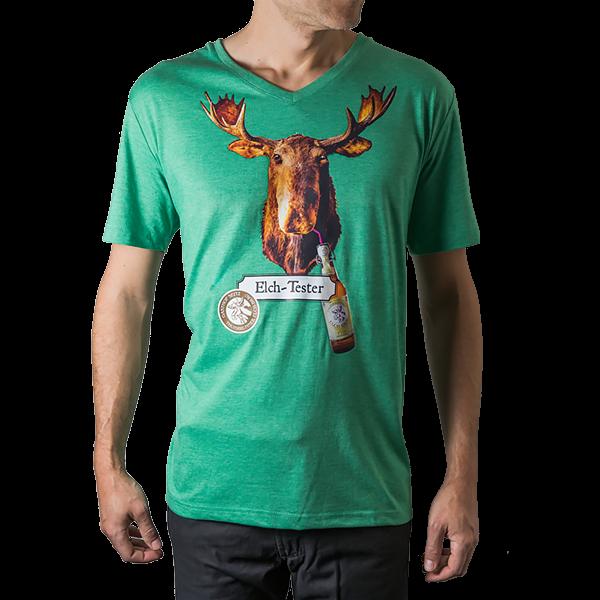 T-Shirt Elch-Tester grün